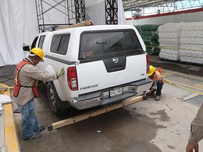 "Colocación de polín para generación de Onda ""P"""