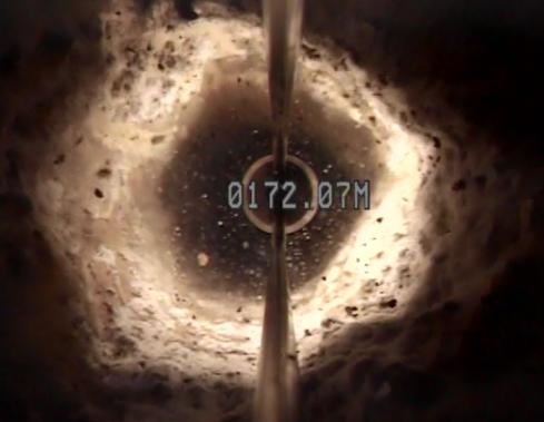 Reducción del diámetro y colapso por incrustaciones en la tubería de ademe.
