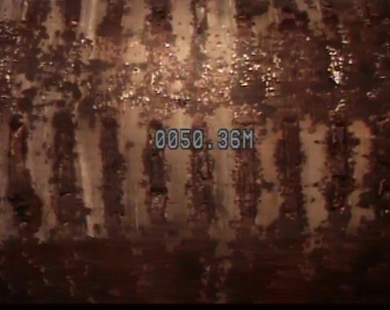 Oxidación en tubería ranurada