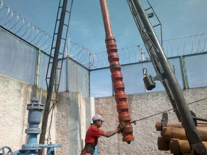 Instalación de bomba de aforo de 8 pasos (Tazones).