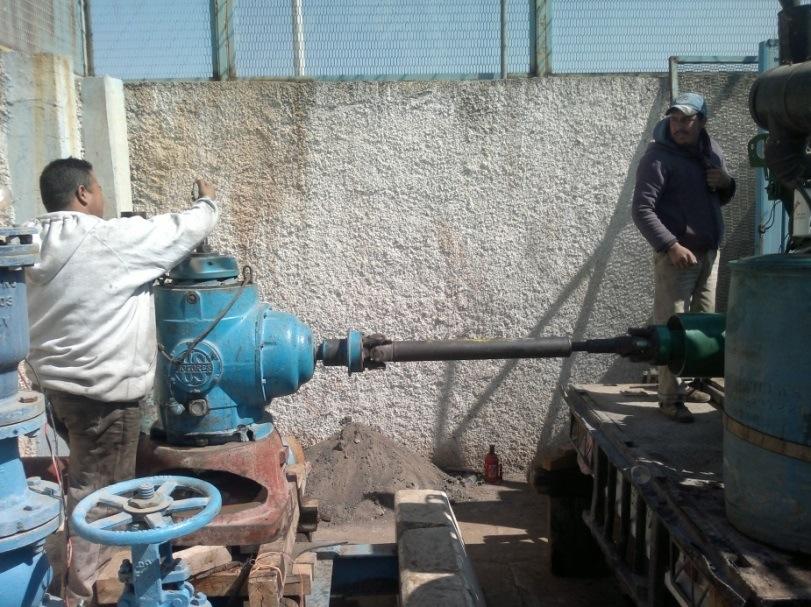 Calibracion de revoluciones por minuto, para descarga de agua en prueba de aforo.