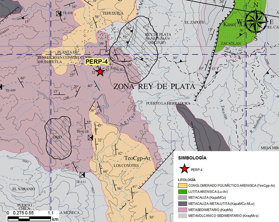 Geología regional del sitio sonde se localiza el pozo